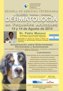 Afiche Curso de Dermatologiìa Para enviar por email