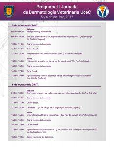 Programa II Jornada de Dermatología Veterinaria